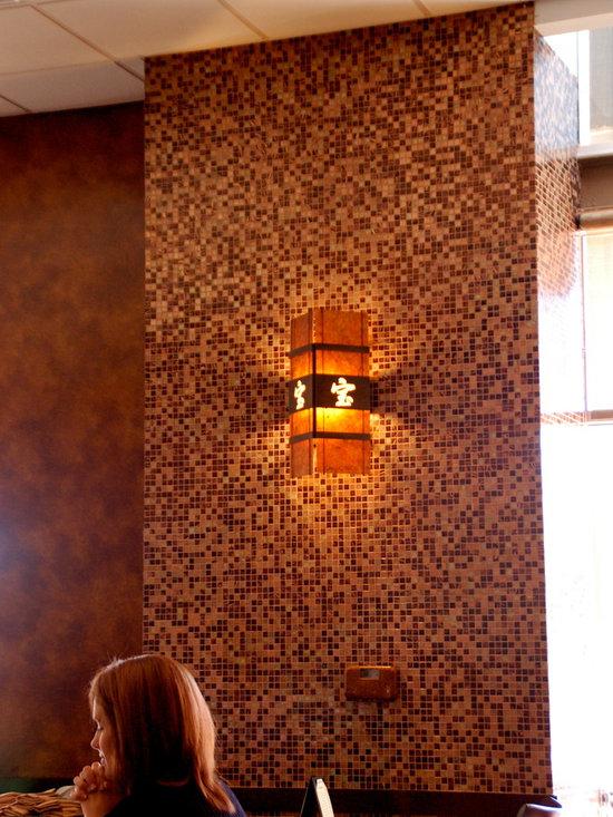 Kim - mica wall light, asian light fixture, copper wall sconce, restaurant lighting, custom lighting, custom wall sconce