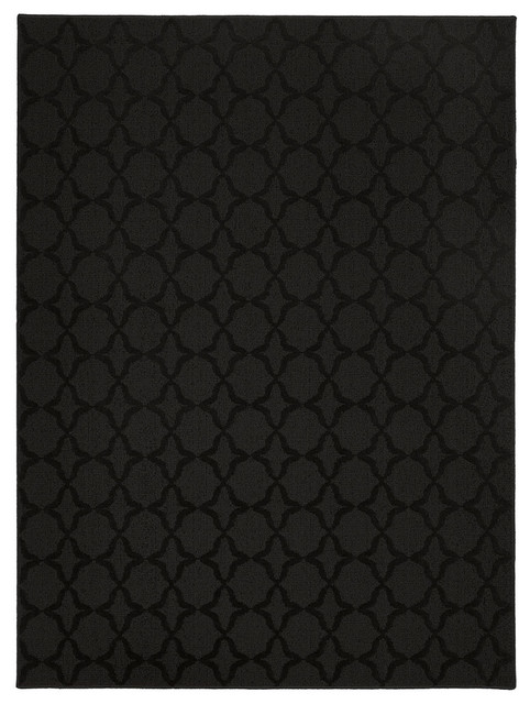 Naples Black Area Rug (5' x 7') transitional-rugs