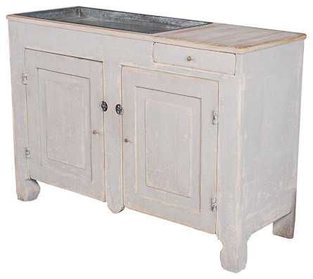 The Dry Fork River Dry Sink Cabinet traditional bathroom vanities and sink consoles