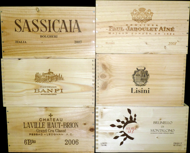 6 Bottle Wooden Wine Boxes Selection 1 traditional-storage-boxes