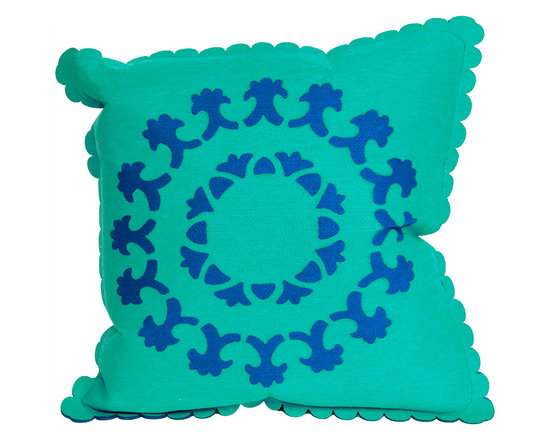 Liora Manne Suzanie Turquoise Throw Pillow