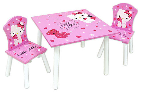 Hello Kitty Table Chair Set Contemporary Kids Tables