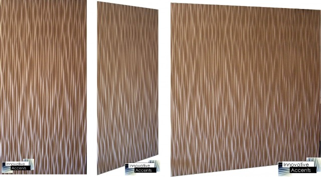 Decorative 3D wall panel - Wave eclectic wallpaper