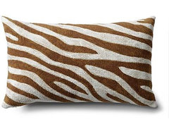 Zebra Outdoor Pillows contemporary outdoor pillows