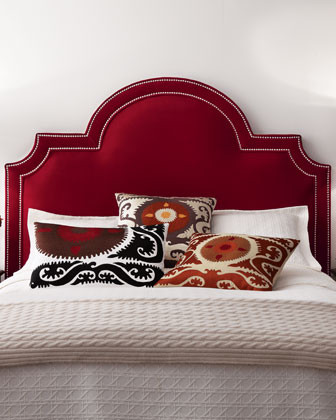 Massoud Sonia King Velvet Headboard traditional headboards
