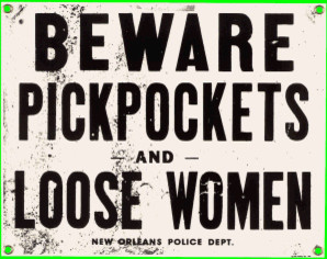 Pickpockets Vintage Sign eclectic-artwork