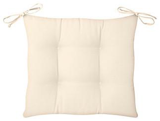 "Tufted Chair Cushion 21-1/2""x18""x3"" - Eggshell contemporary-outdoor-cushions-and-pillows"