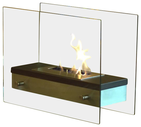 Ardore Portable Tabletop Ethanol Fireplace Modern Tabletop Fireplaces By Bluworld Homelements