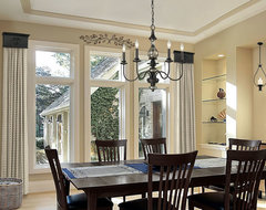 Cornice Window Treatments - Dining Room contemporary-dining-room