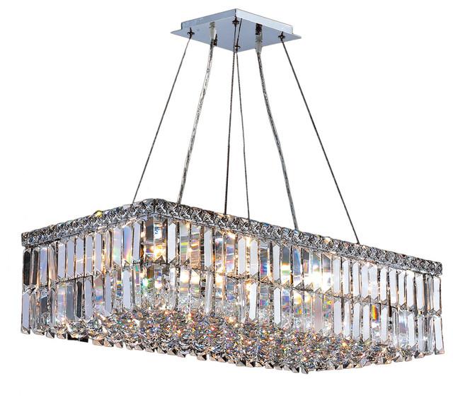 Rectangular Crystal Chandelier Lighting