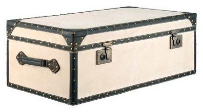 Candelabra Home Vintage Canvas Trunk Table traditional-storage-and-organization