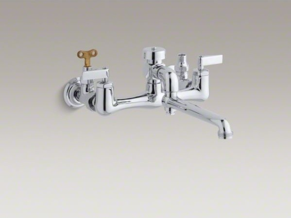 KOHLER Double lever handle service sink faucet with loose-key stops ...