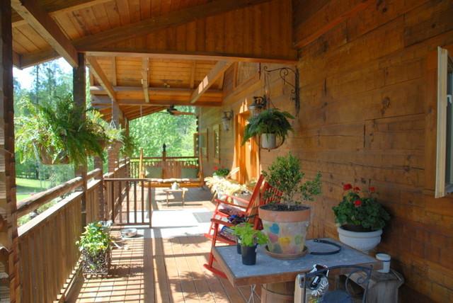 Beautiful Log Home Retreat on Lake Greenwood SC traditional-porch