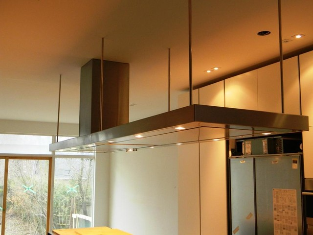Stainless Steel 12 Wide Island Range Hood By Custom Range