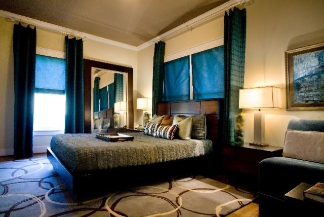 Modern Guest Room : ... Retro Modern Guest Bedroom By Jeffrey Design LLC modern-bedroom