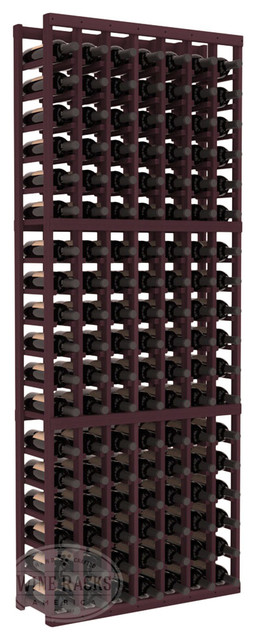 7 Column Standard Cellar Kit in Redwood with Burgundy Stain traditional-wine-racks