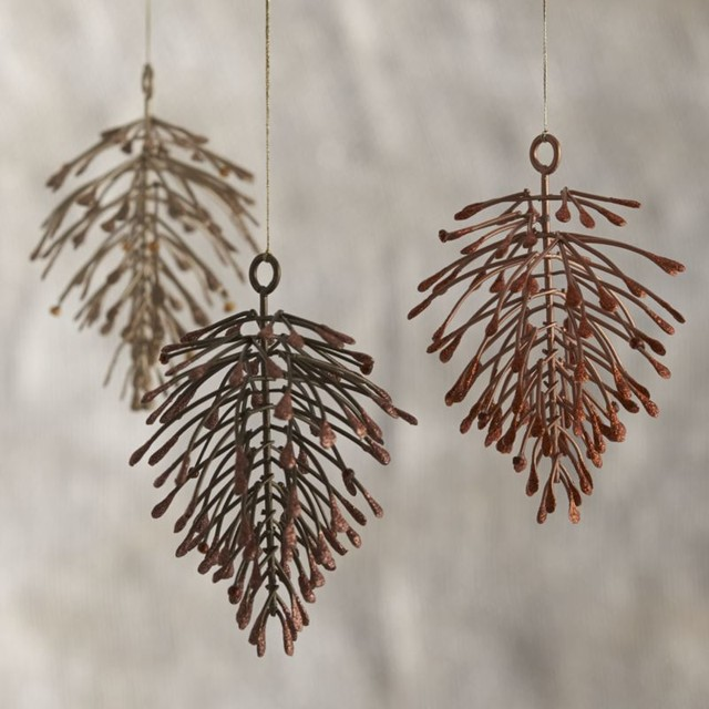 Metallic Pinecone Ornaments - Contemporary - Christmas Ornaments - by ...