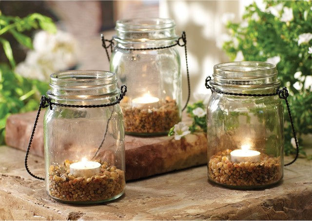 Order Home Collection 3 Piece Hanging Mason Jar Tealight