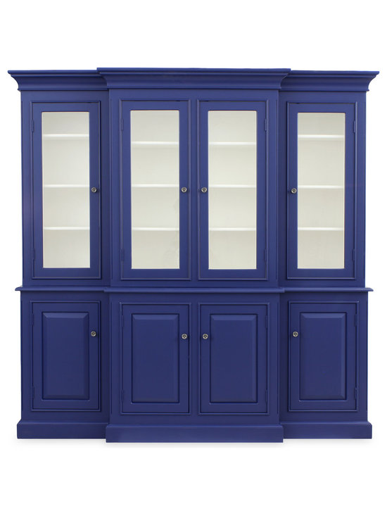 Redford House Livingston Hutch shown in Blueberry and White -