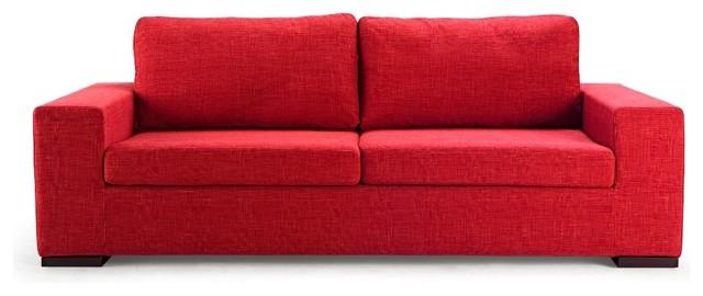kensington red 3 seat couch modern sofas. Black Bedroom Furniture Sets. Home Design Ideas
