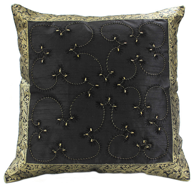 Decorative Pillow Covers - Asian - Decorative Pillows - boston - by Banarsi Designs