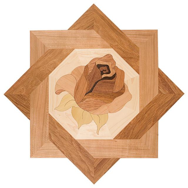 Oshkosh designs bellarosa inlay deco contemporary for Hardwood floor inlay designs