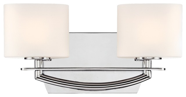 "Columbus Avenue 14"" Wide Chrome Bathroom Light Fixture"