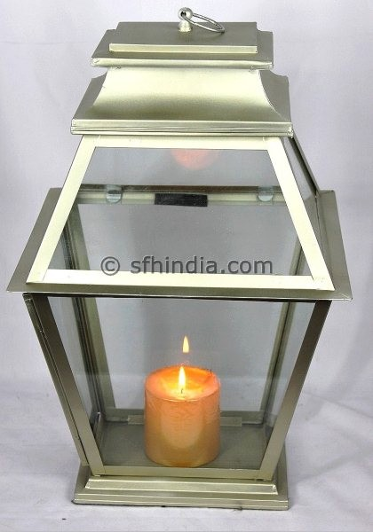 Home and Garden-Metal Lantern traditional-candleholders