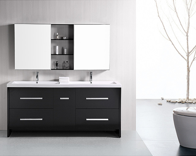 Design Element Perfecta Modern 72-inch Doublesink Bathroom Vanity Set contemporary-bathroom-vanities-and-sink-consoles