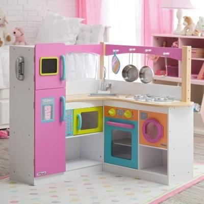 KidKraft Big & Bright Grand Gourmet Corner Kitchen modern-kids-toys-and-games