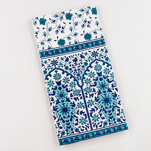 Teal Floral Kitchen Towel Collection Contemporary