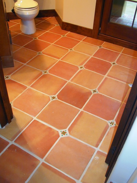 12x12 terracotta saltillo mediterranean wall and floor