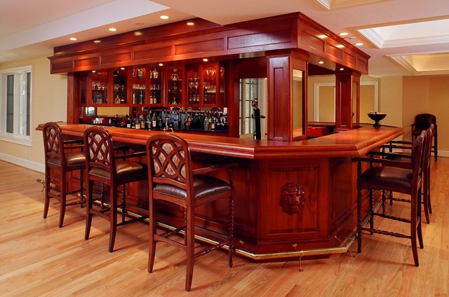Gorgeous Mahogany Bar!