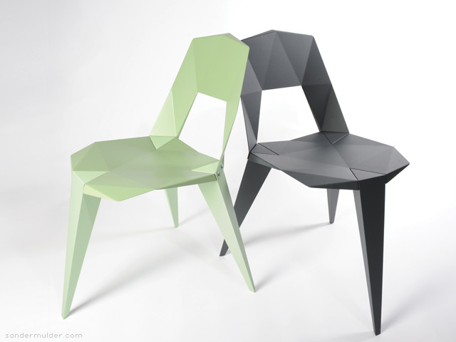 modern dining chairs and benches by Sander Mulder