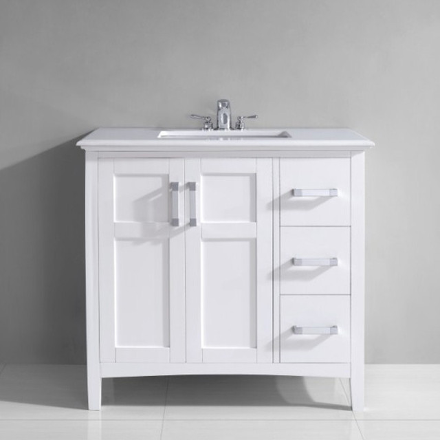 adelina 32 inch cottage bathroom vanity white marble top olivia 30