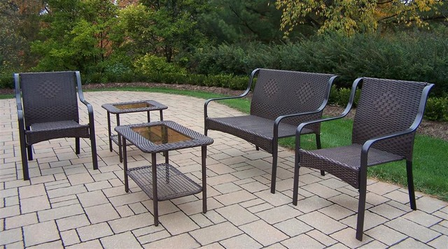 5-Pc Lounge Set traditional-outdoor-benches
