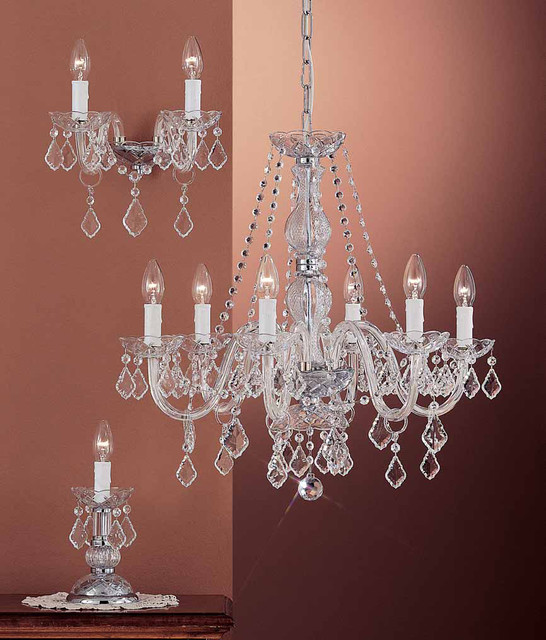 Crystal lead and Swarovski collection Topdomus OR/407 traditional-chandeliers