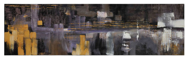 Fly By Night Rectangular Painting Contemporary Artwork