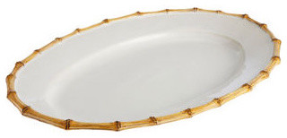 Juliska Bamboo Oval Platter traditional-serving-dishes-and-platters