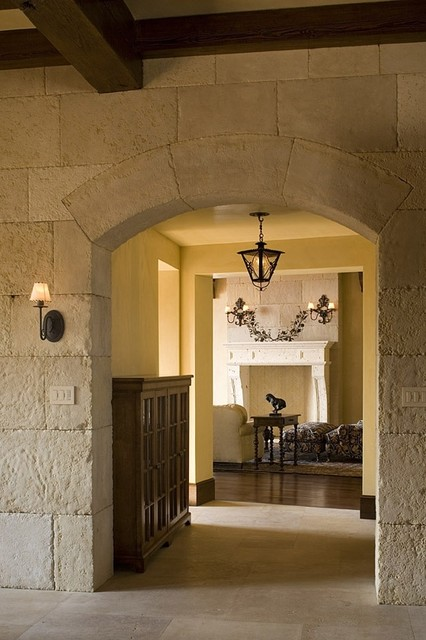 Rustic Ranch mediterranean hall