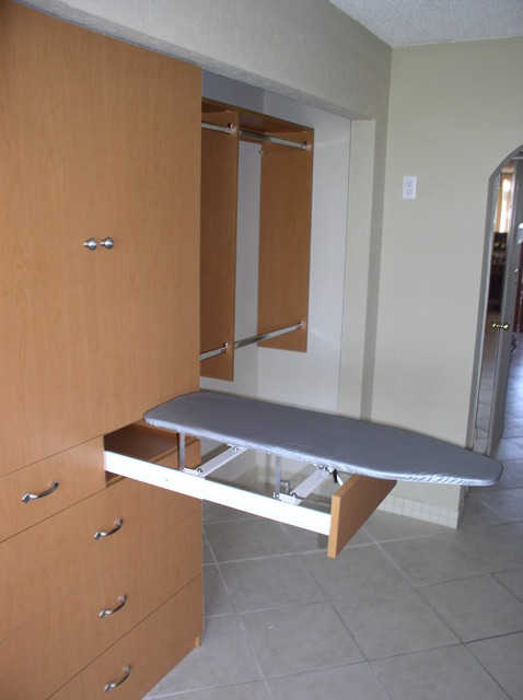 how to make a ironing board cabinet