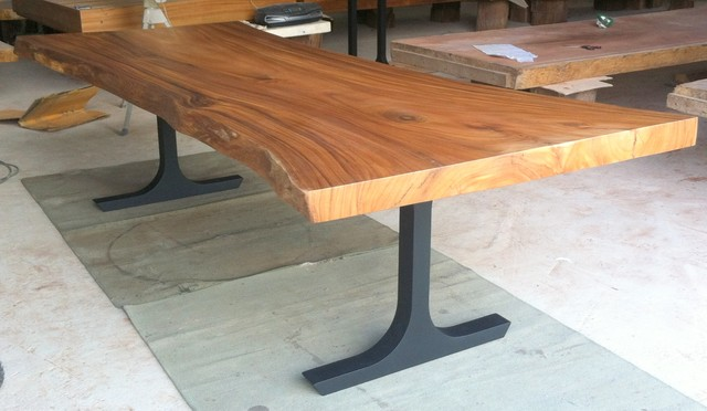 Reclaimed Solid Slab Acacia Wood Dining Table by Flowbkk  : contemporary dining tables from www.houzz.com size 640 x 372 jpeg 54kB