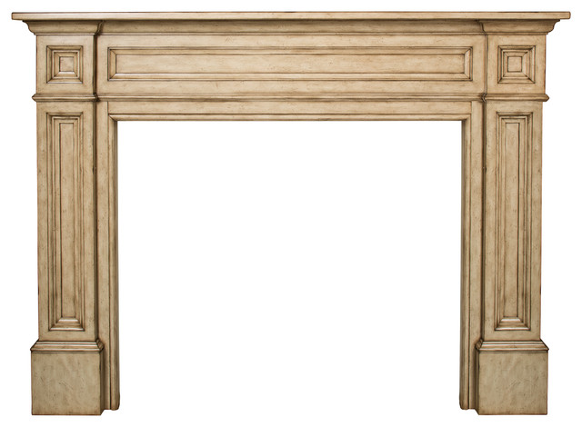 "The Classique 56"" Fireplace Mantel Tuscany Finish modern-fireplace-mantels"