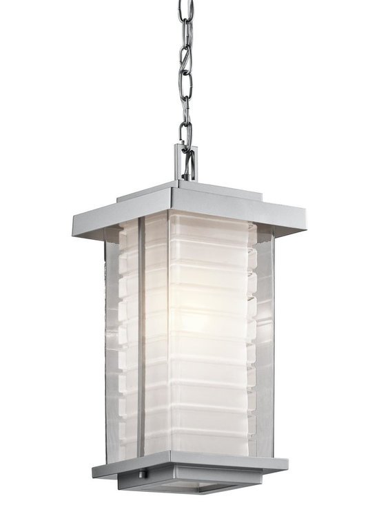 Kichler Lighting - Kichler 49368AZ Architectural Bronze Ascari 1 Light Outdoor Pendant - Kichler 49368 Ascari Outdoor Pendant This versatile 1 light halogen outdoor pendant from the Ascari collection makes a clean, understated statement. With its Architectural Bronze or Platinum finish and Clear Outer Glass with Etched Inside Inner Glass, this design will enhance any space.