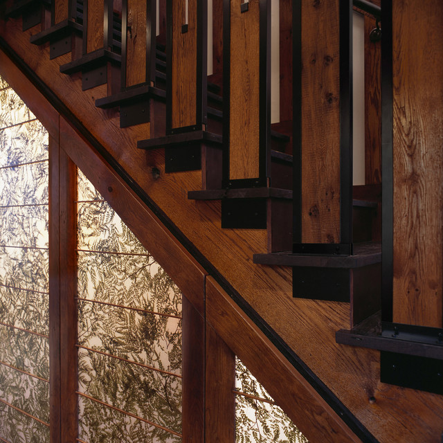 craftsman teahouse asian staircase