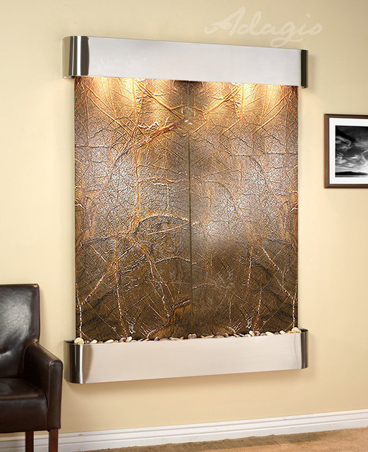 Customizable Wall Water Features contemporary