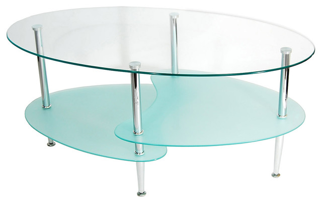 Glass Oval Coffee Table Contemporary Coffee Tables By Liquid