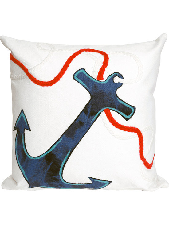 Liora Manne Anchor Throw Pillow