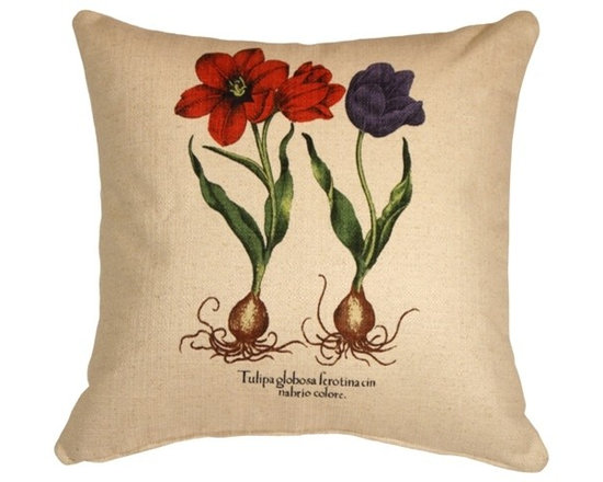 Pillow Decor - Pillow Decor - Tulips 20 x 20 Decorative Throw Pillow - For a springtime feeling any time, plant this pillow in your decor. Brilliant tulips printed on a comfy, clean-feeling cotton-linen blend bring a refreshing vibe to your favorite setting.