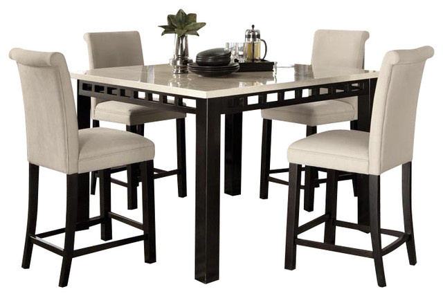 Standard Furniture Gateway White 6-Piece Counter Dining Room Set w/ Parsons Bars traditional-dining-sets